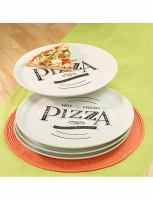 4-teiliges Teller-Set «Pizza»