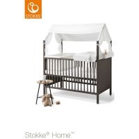 STOKKE Home Bed hazy grey inkl Dach Changer und Cradle